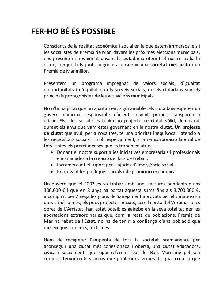 Programa de govern del PSC