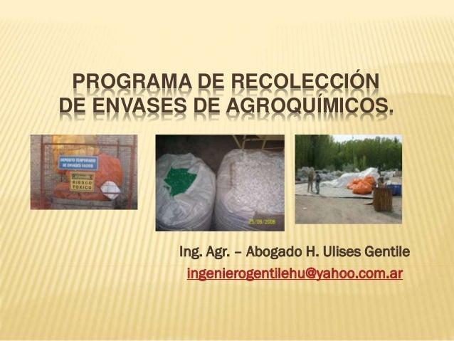 Recolección de Envases de Agroquímicos