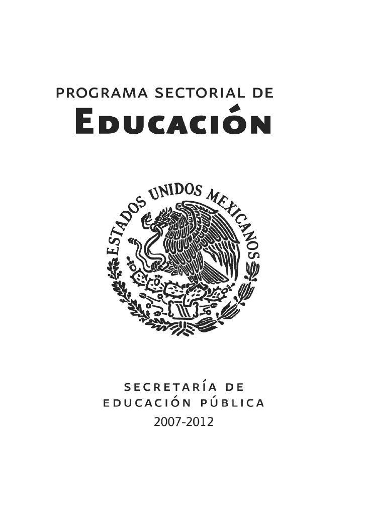 Programa Sectorial de Educación de la SEP