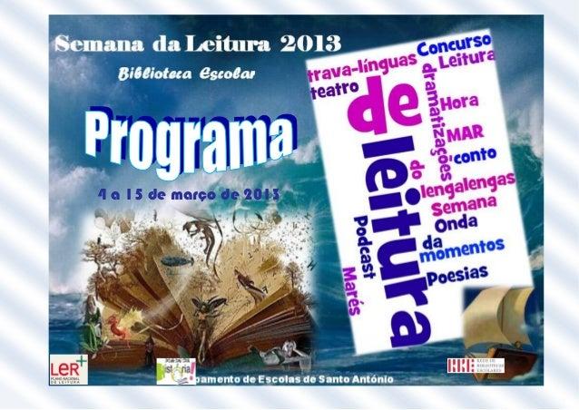 Programa semana da leitura.doc 2013
