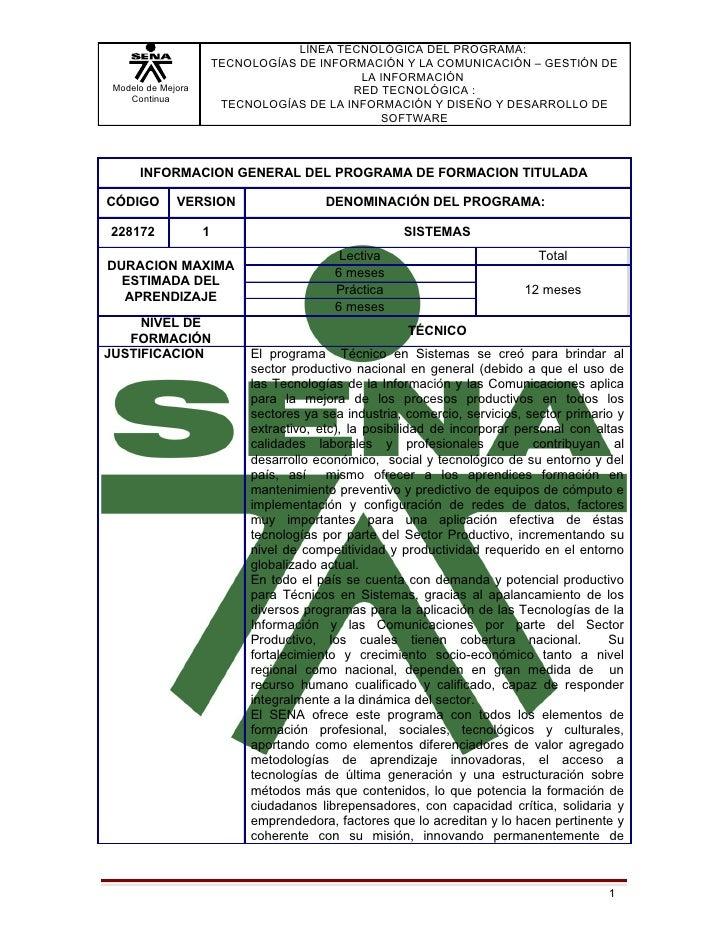 LÍNEA TECNOLÓGICA DEL PROGRAMA:                        TECNOLOGÍAS DE INFORMACIÓN Y LA COMUNICACIÓN – GESTIÓN DE          ...
