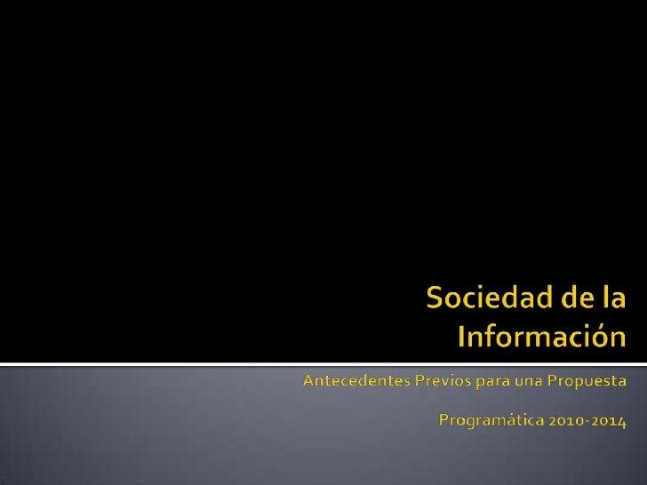 Pensando la Sociedad de la Informacion