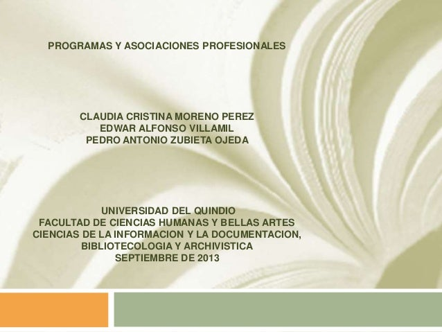 Programas y asociaciones profesionales