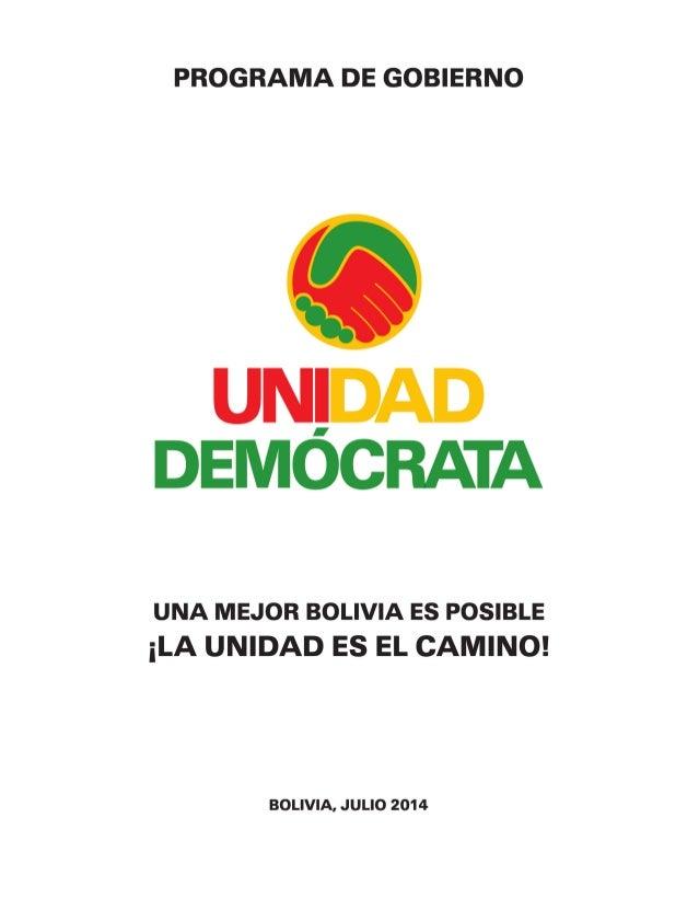 1                                                   UNA MEJOR BOLIVIA ES POSIBLE: LA UNI...