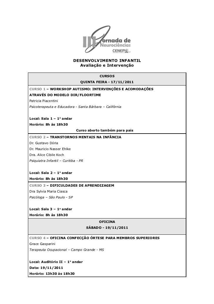 III Jornada de Neurociências Curitiba - Novembro