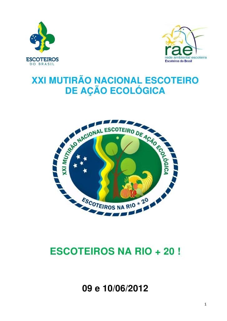 Programa do XXI MUTECO RIO +20