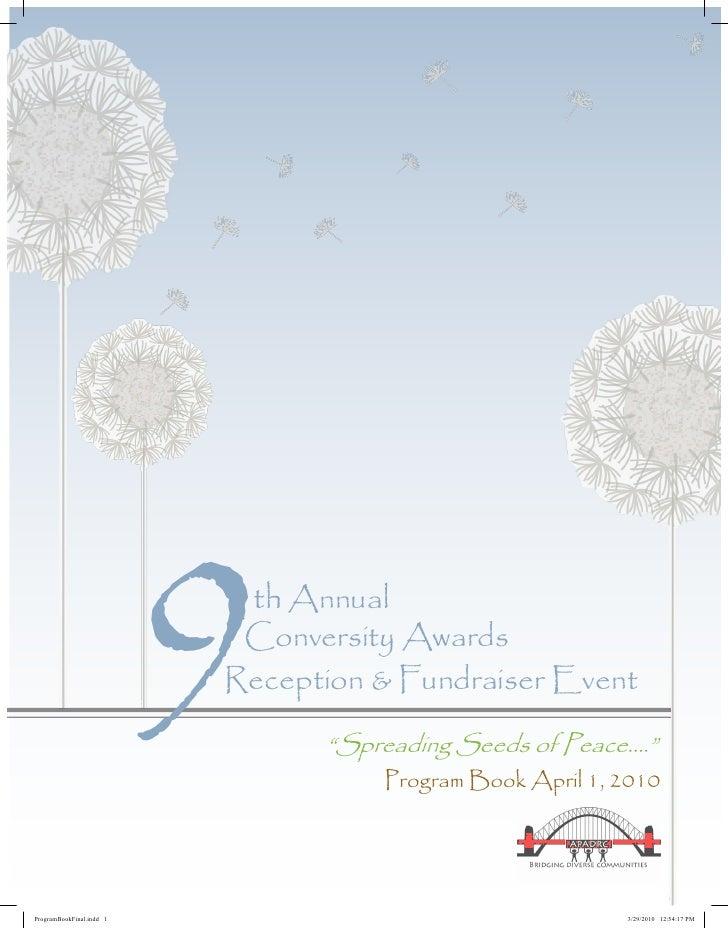 9th Annual                            Conversity Awards                           Reception & Fundraiser Event            ...