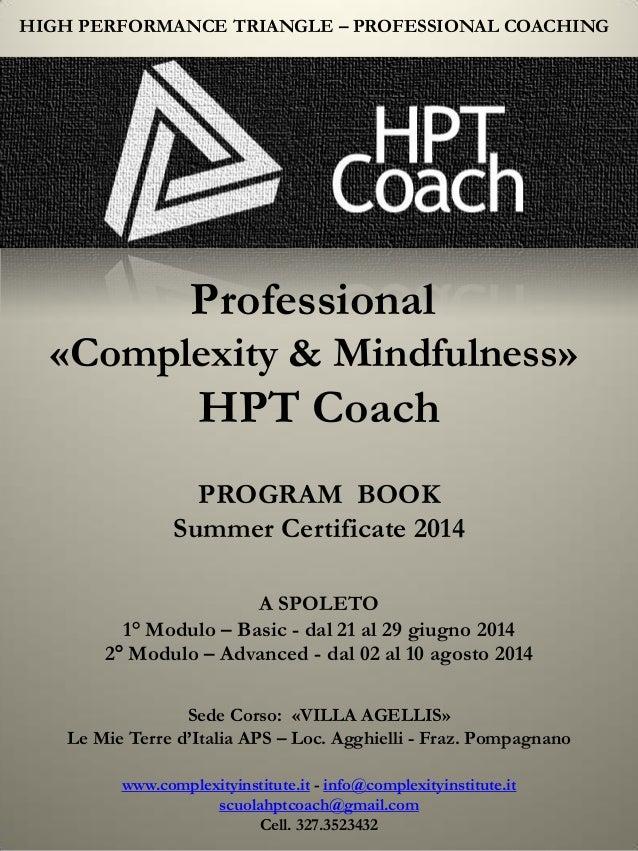 HPT COACH - Program Book Estate 2014