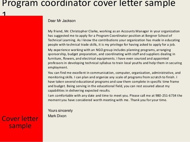 coordinator letter of interest images