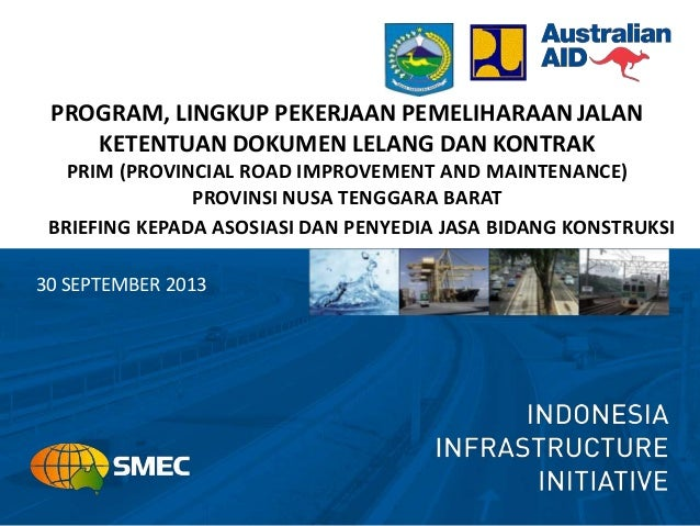 Program dan lingkup pekerjaan pemeliharaan jalan