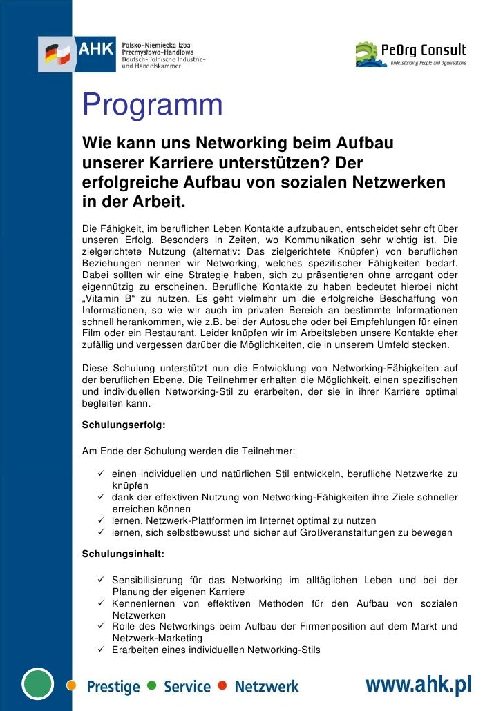 Schulung in Networking