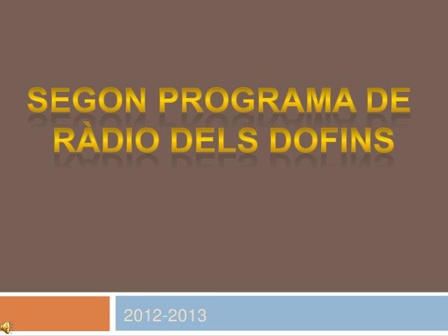 Programe radio segon grup