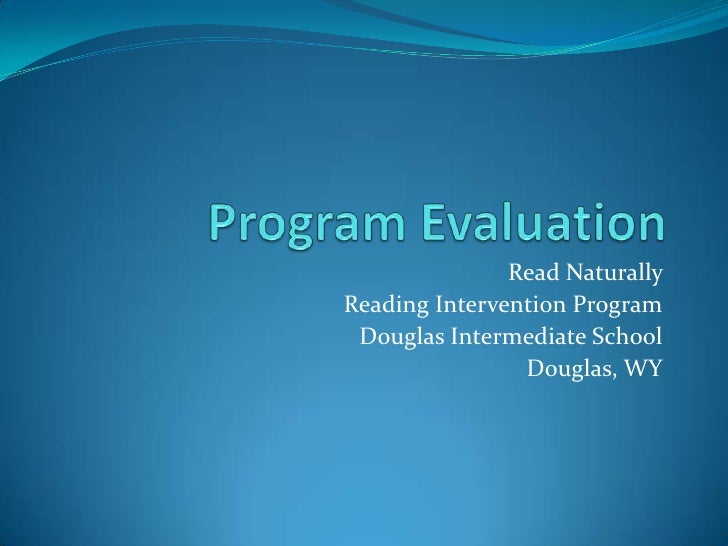 Program Evaluation (2)