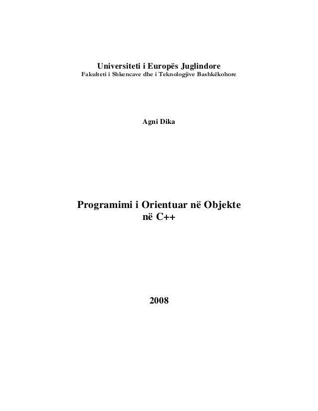 Universiteti i Europës JuglindoreFakulteti i Shkencave dhe i Teknologjive Bashkëkohore                    Agni DikaProgram...