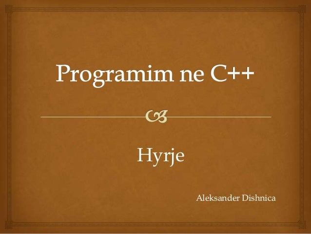 C++ Workshop Presentation