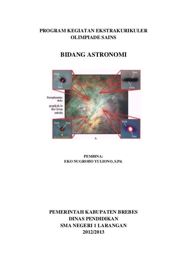 Program kegiatan ekstrakurikuler bidang astronomi