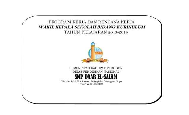 Program kerja kurikulum_2013-2014