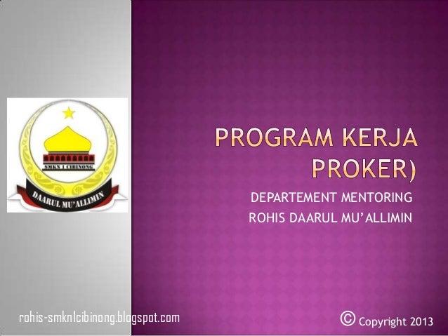 Program kerja (proker) mentoring 2013