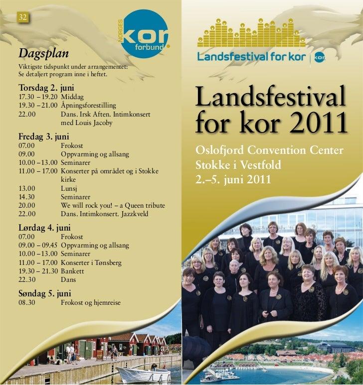 Program Landsfestival for kor 2011
