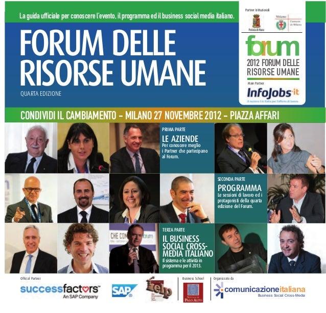 PROGRAMMA FORUM DELLE RISORSE UMANE 2012