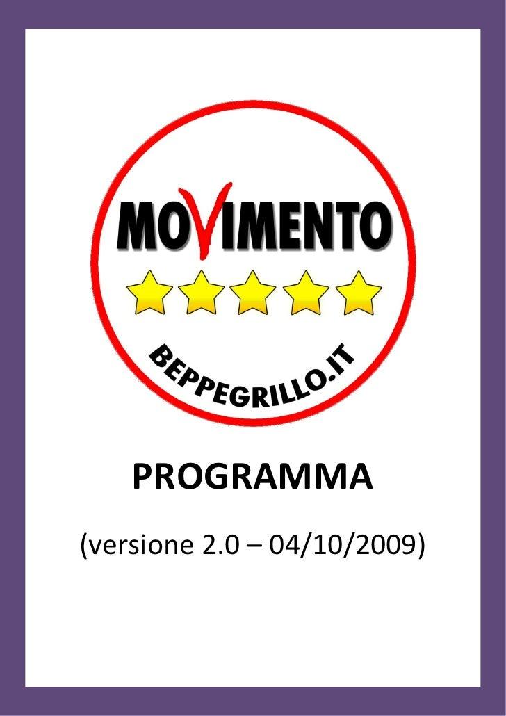 Programma Movimento 5 Stelle