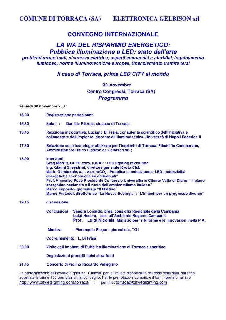 Programma Torraca 09112007