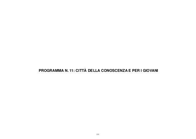 Programma 11 - Bilancio consuntivo 2012