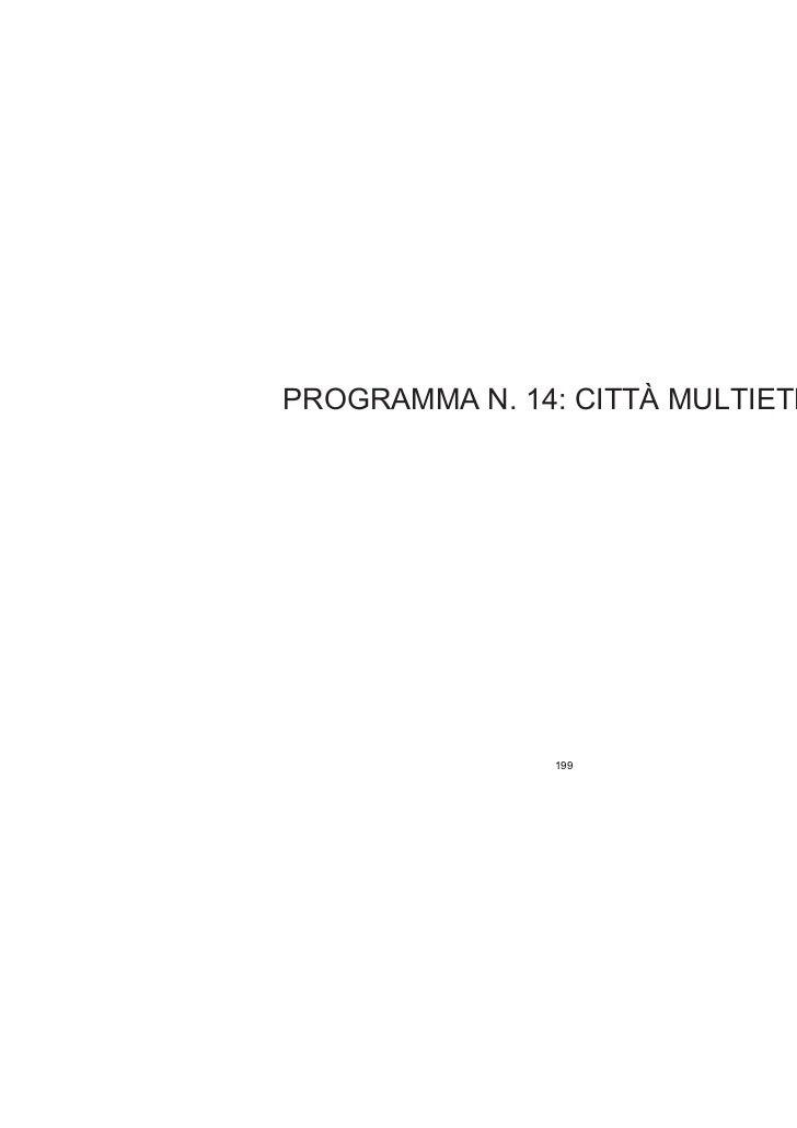 Programma 14 - CITTA'  MULTIETNICA
