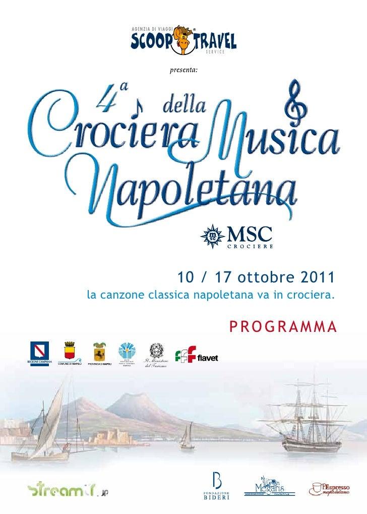 Programma IV Crociera della Musica Napoletana