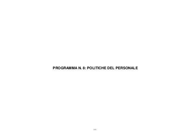 Programma 8 - Bilancio consuntivo 2012