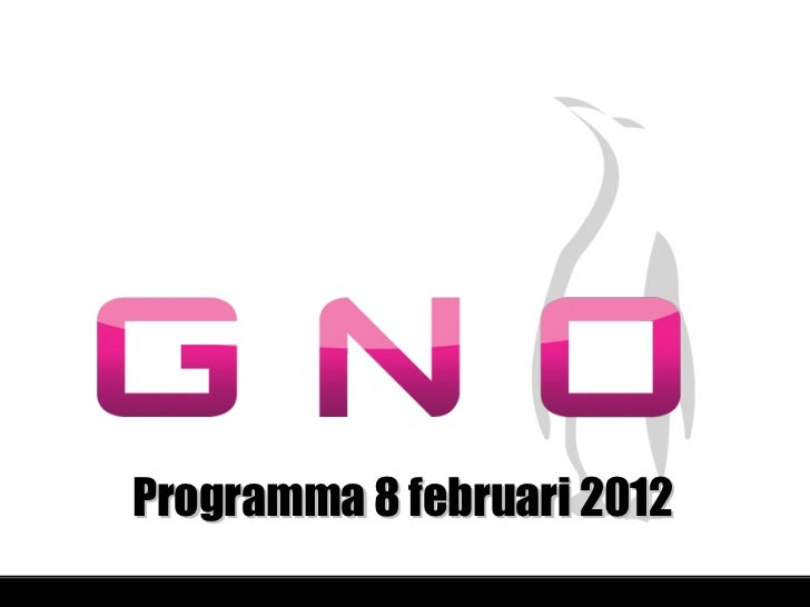 Programma 8 februari 2012