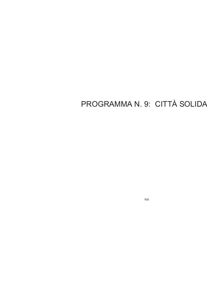 Programma 9 - CITTA' SOLIDALE