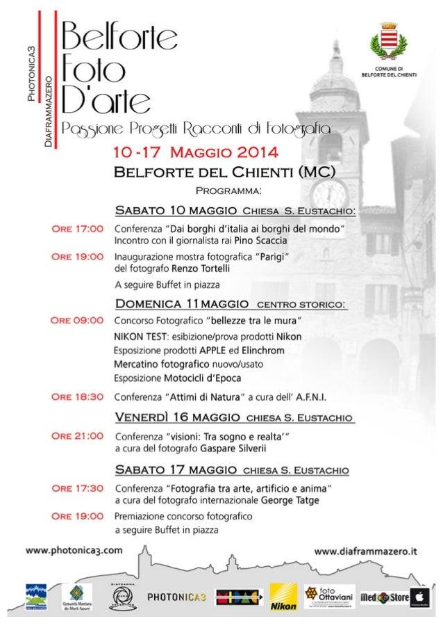 Programma belforte foto d'arte 2014 - 10-17 Maggio Belforte del Chienti (Mc)