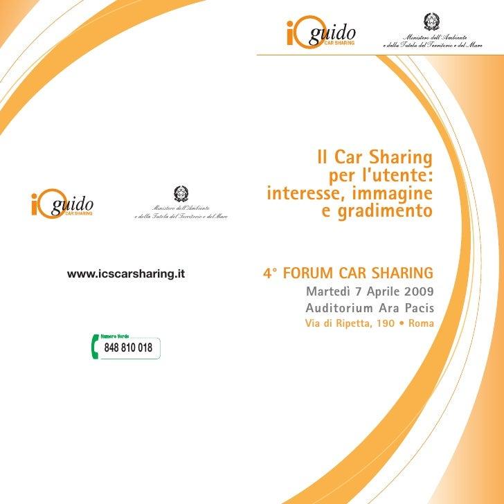 Programma Definitivo IV Forum Del Car Sharing 2009