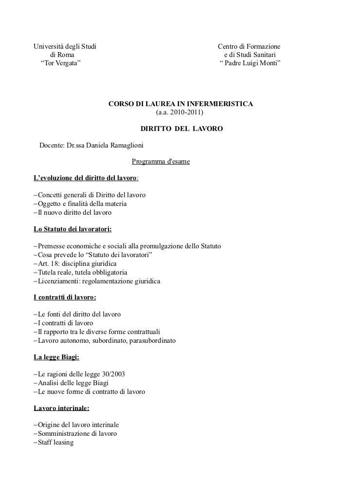 Università degli Studi                                       Centro di Formazione     di Roma                             ...