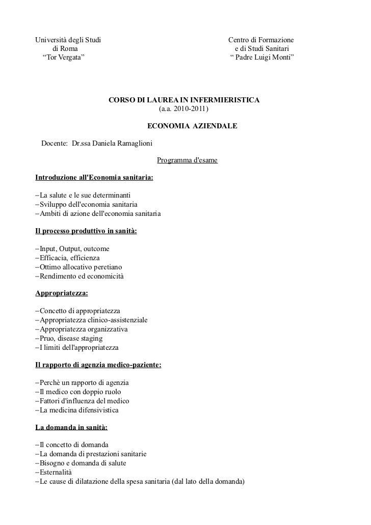 Programma d'esame 2011