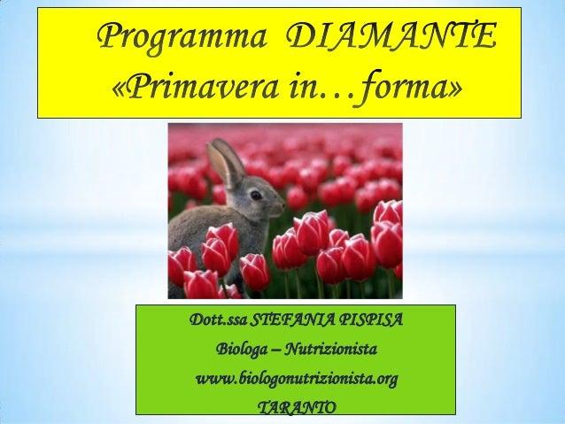 Programma Diamante «primavera in forma»