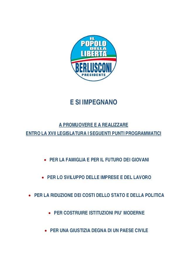 Programma elettorale 2013