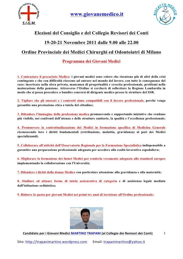 www.giovanemedico.it                   Elezioni del Consiglio e del Collegio Revisori dei Conti                 ...