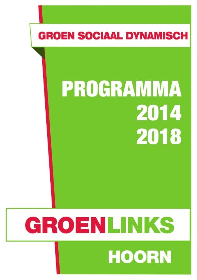 Programma groen links hoorn 2014 2018