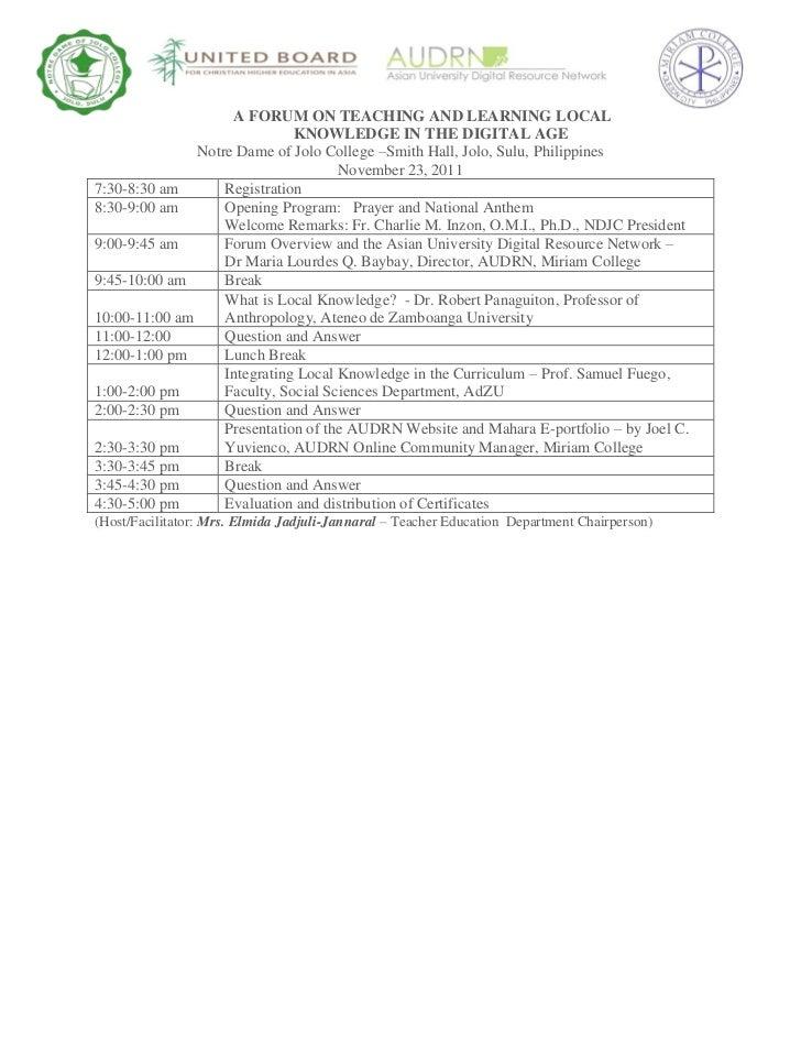AUDRN Forum, November 23
