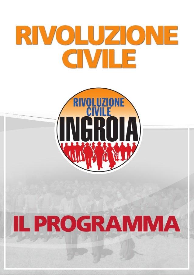 Programma elettorale Ingroia