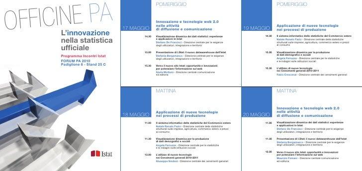 Programma Istat al Forum PA 2010