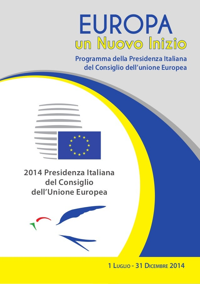 Programma semestre di presidenza italiana dell'Ue