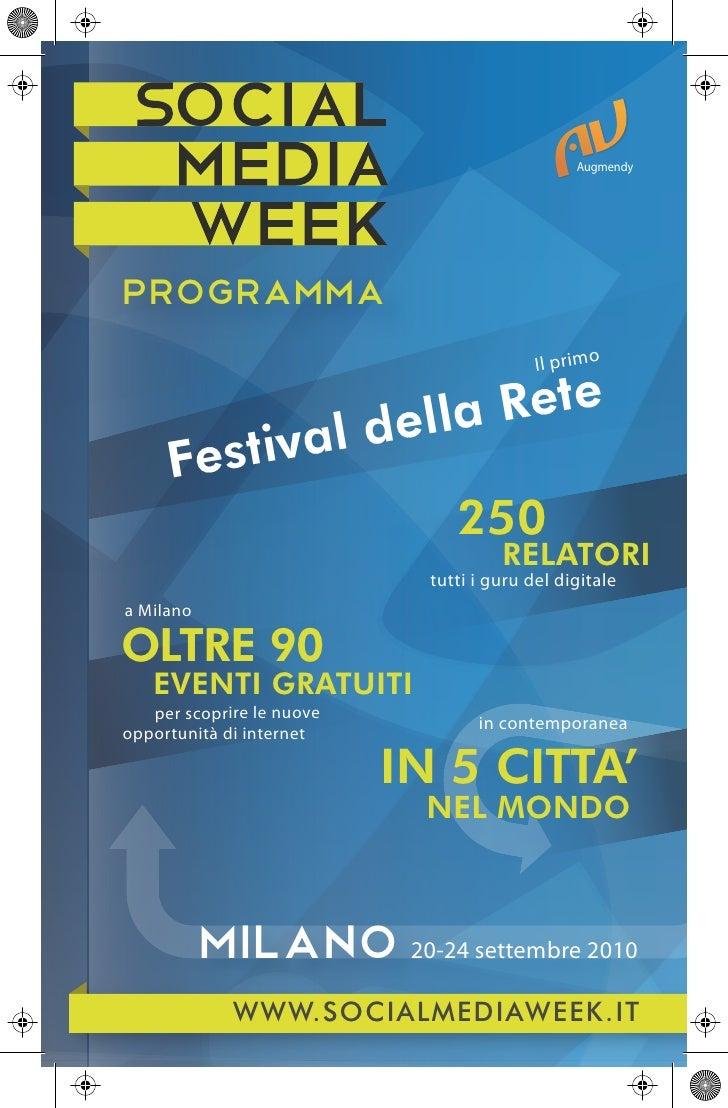 Social Media Week Milano 2010: il programma