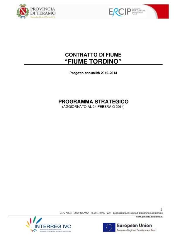 Programma strategico aggiornato al 24 febbraio 2014