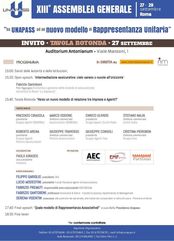 Programma tavola rotonda unapass   27 settembre 2012