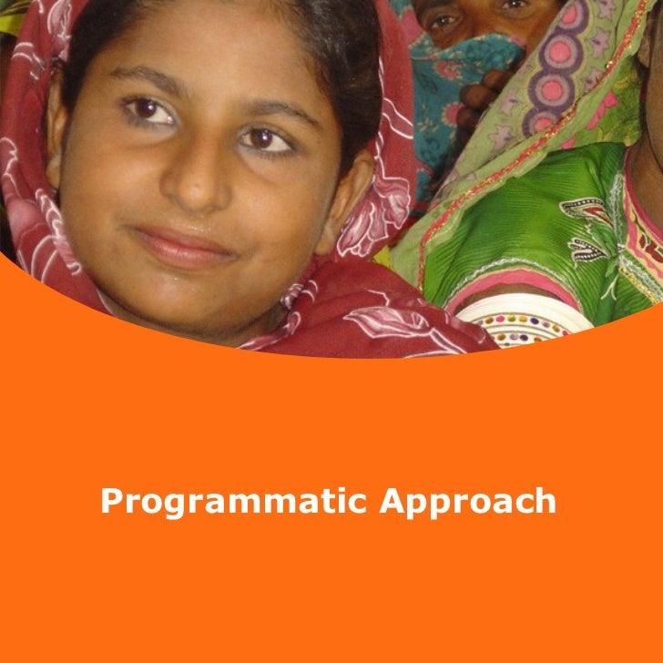 Programmatic approach  - facilitators ws Okt.  2009
