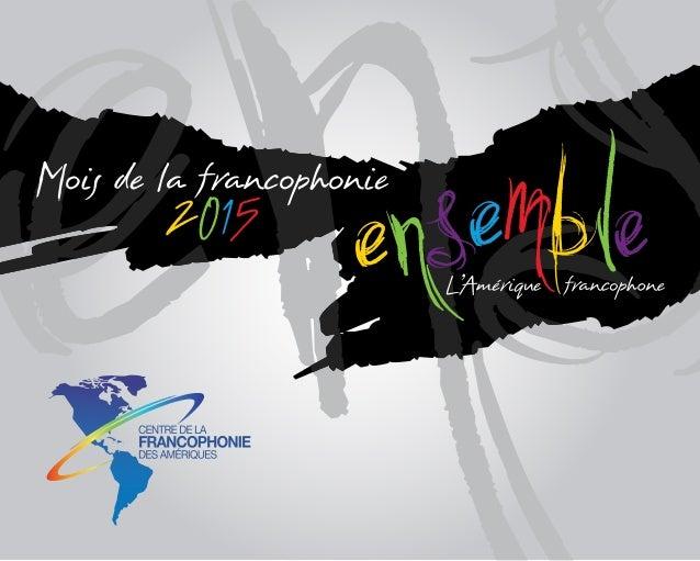 Mois de la francophonie 2015