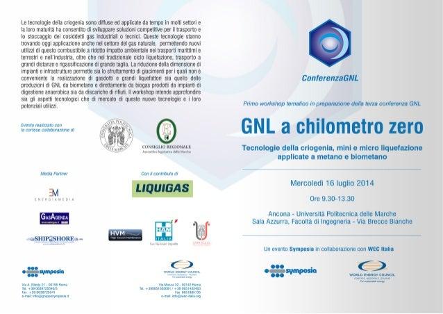 """Programma - """"GNL a chilometro zero"""" - 16 Luglio 2014 - Ancona"""